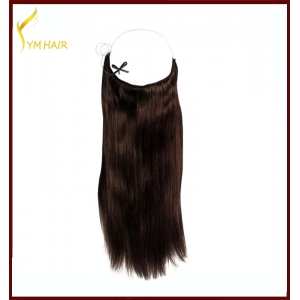 10''-30'' halo human Hair extension Halo Hair Brazilian Human Hair Extensions Mixed colors