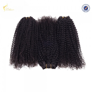 100% Human Brazilian Human Hair Weaves different types of expression curly weave hair for black women