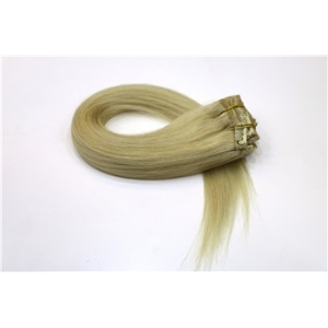 100% real Indian remy human hair full head lace clip in hair extensions