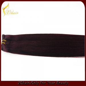 2015 year wholesale most popular hair weft 100% human top quality thick bottom
