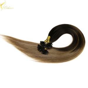 2016 double drawn unprocessed remy ombre 0.5g u tip hair extension