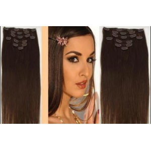 6- 32 inch Clip-on Human Brazilian Hair Extensions Free Sample Kinky Straight Curly Clip in Hair Extensions