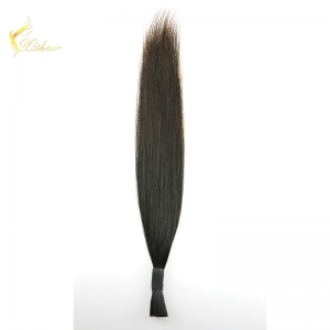 7a unprocessed silky straight Peruvian virgin hair extension cheap real human hair extension