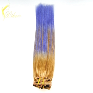 8A Grade Virgin Hair full cuticle clip in hair extension 7a balayage For White Women