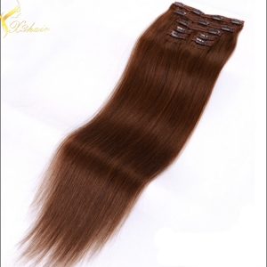 Alibaba China Free Shipping 2016 Hot Selling Factory Price triple weft hair extension remy hair clip in