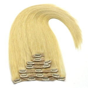 Alibaba express wholesale full cuticle human hair clip on extensions india