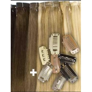 Alibaba golden supplier cheap 100% unprocessed peruvian double drawn human hair clip in extensions