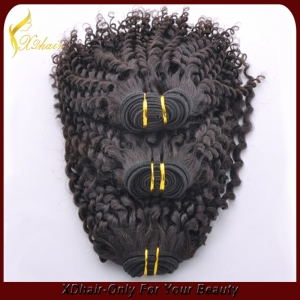 Remy Human Hair Cheap Brazilian Hair Kinky Curly Weft Hair Manufacture Wholesale Made in China