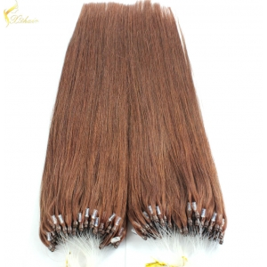 Cheap silky straight blonde 100% human remy 0.8g micro ring invisible hair extension