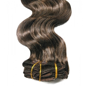 China Supplier virgin remy human hair clip in extension cheap price