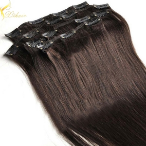 China wholesale New arrival best selling high quality Virgin Hair human hair extensions clips