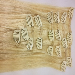 Double Drawn  Remy Cheap 100% Human Hair Clip In Hair Extension