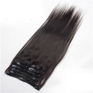 Double drawn 150g 190g 220g 100% real human hair extensions clip in