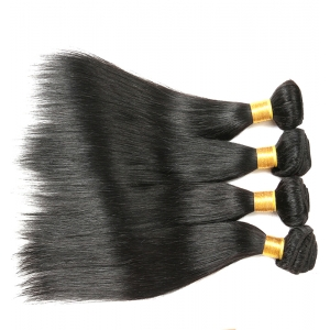 Double drawn aliexpress straight 100 virgin Brazilian peruvian remy human hair weft weave bulk extension