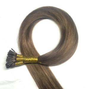 Double drawn blonde virgin hair pre bond i tip hair extensions wholesale