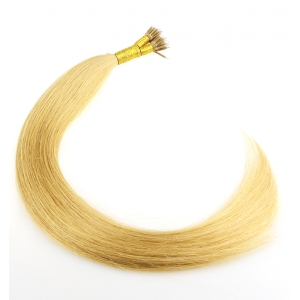 Double drawn light blonde indian temple hair dropshipping 100 virgin brazilian human hair nano link ring hair extension