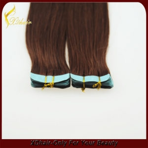 Double drawn remy wholesale  tape in hair extentions