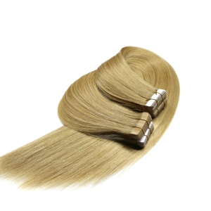Double weft full cuticle wholesale double drawn tape hair extension 613
