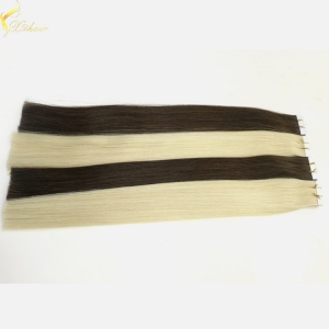 Double weft full cuticle wholesale tape hair extensions remy 40pcs