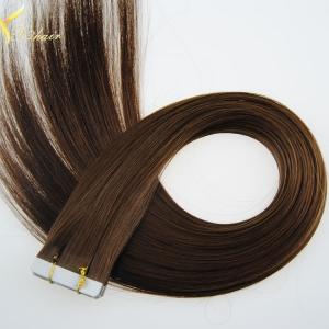 Double weft full cuticle wholesale virgin human tape hair extension in dubai