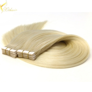 Double weft full cuticle wholesale virgin tape hair extensions remy straight
