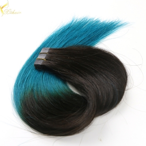 Double weft full cuticle wholesale virgin tape in hair extensions packs