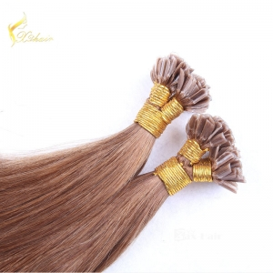 Factory Directly Wholesale Double Drawn Human Hair 1g nail tip double drawn hair