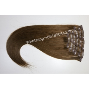 Factory Price European Skin Weft Virgin Hair clip in Hair Blonde to White Mixed Color Straight Hair Extension Discount