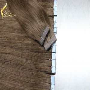 Factory cheap price top quality tape hair extension with 100% remy malaysian straight weave hair