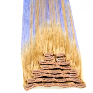 Factory hair wholesale price human hair extension clip in hair two tone color malaysian hair