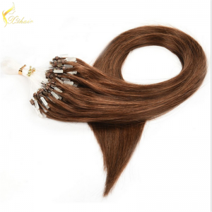Fashion Hair Dark Color Loop Micro Ring Beads Tipped Remy Human Hair Extensions