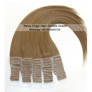 Fashion High quality 100% virgin brazilian silky straight remy human tape hair extension