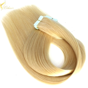 Fast ship large stock double drawn 100% human hair sticker hair tape