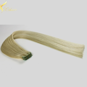 Fast ship large stock double drawn tape in curly hair extensions