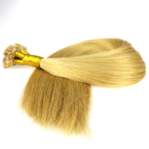 Flat Tip Hair Silk Straight 100 Piece/Lot Feeling Soft And Gliding Authentic European Virgin Human Hair