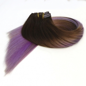 Full Cuticle Human Remy Hair Clip In Extension Double Drawn Best Quality Russian Human Hair