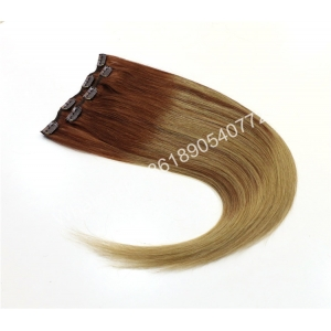 Good quality brazilian professional 8 pieces full set chinese clip hair