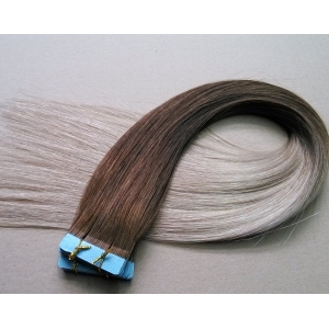 HOT 2016 Straight brazilian hair tape in hair extentions 100 % Natural human hair for wholesale