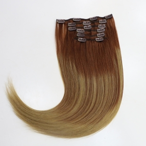 Hot Sale Virgin Tangle/Shedding Free Wholesale Price Clip-In Hair Extension white clip in hair extension Clip Hair Extension