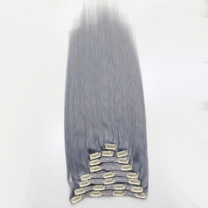 Hot selling Timly delivery grey hair clip in extensions