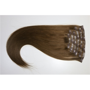 Hot selling skin weft clip in hair wholesale double drawn virgin remy human hair extention 200g clip in piano color