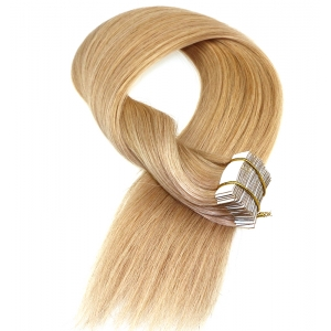 Light blond hair cheap price tape  weft factory wholesale  human hair