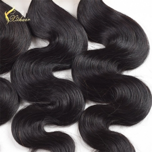 Malaysian Body wave Virgin Human hair bundles Machine weft Double drawn Human hair products weaving