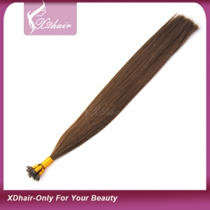 Manufacture Wholesale Human Hair Virgin Remy Pre-Bonded 1g Nano Tip Hair Extensions