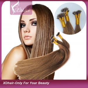 Nano Tip Hair 100% Human Hair Extensions Wholesale High Quality Cheap Price 8A