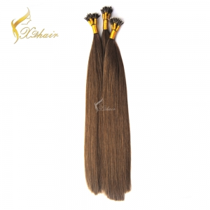 Nano Tip Hair 100% Human Hair Extensions Wholesale High Quality Cheap Price Double Drawn Trade Assurance on Alibaba