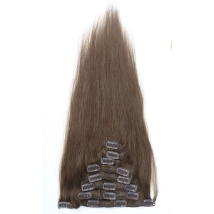 Natural color body wave tangle free shedding free no lice clip in hair extensions