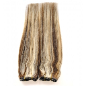 Piano color human hair weaving indian hair extension