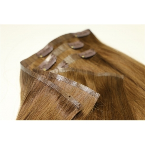 Remy Human hair skin weft clip in hair extensions 20 inch hair extensions Pu weft clip hair extension