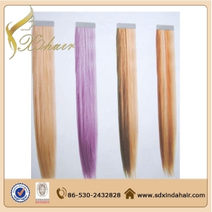 Remy Tape Hair Extensions,Double Drawn Colorful Indian 100 Human Hair Tape In Hair Extentions